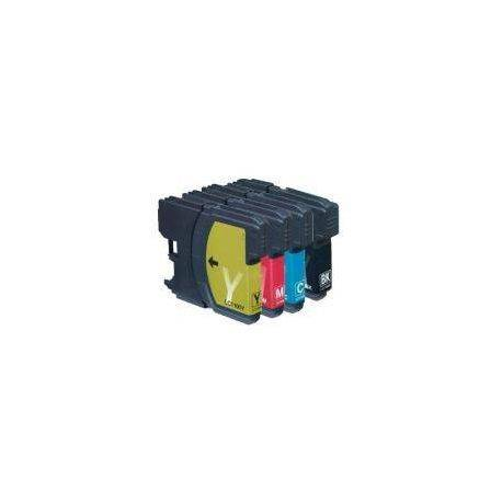 4 Pack Compatible Brother LC-38 Ink Cartridge Set (1BK,1C,1M.1Y)