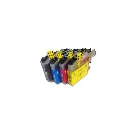 4 Pack Compatible Brother LC-233 Ink Cartridge Set (1BK,1C,1M.1Y)
