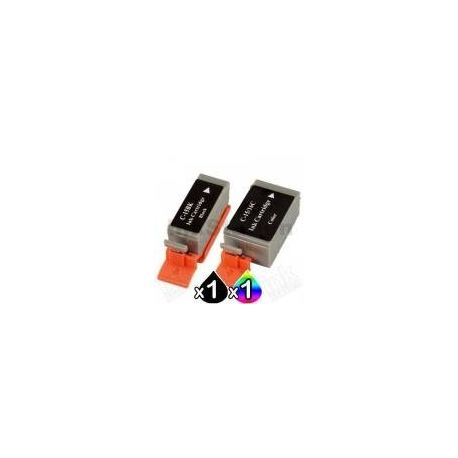2 Pack Canon BCI-15BK BCI-16C Compatible Value Pack for i70, i80, PIXMA iP90, iP90V [1BK,1C]
