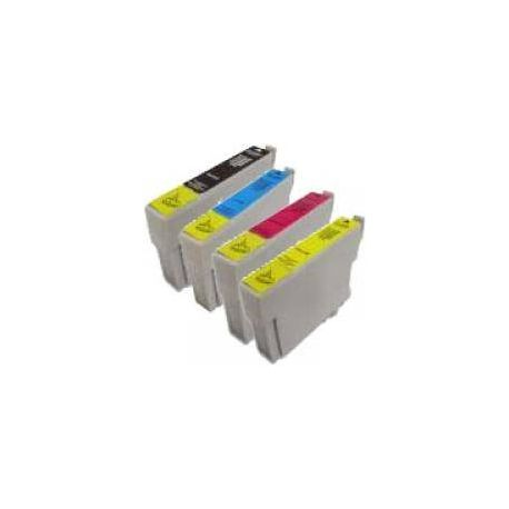 4 Pack Compatible Epson T0751 T0752 T0753 T0754 Ink Cartridge Set (1B,1C,1M,1Y)