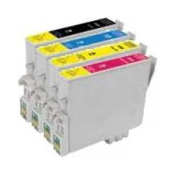 4 Pack Compatible Epson 220XL Ink Cartridge Set (1B,1C,1M,1Y) High Yield