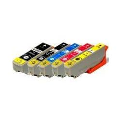 5 Pack Compatible Epson 273XL Ink Cartridge Set (1BK,1PBK,1C,1M,1Y) High Yield