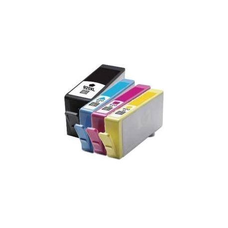 4 Pack Compatible HP 920XL Ink Cartridge Set (1BK,1C,1M,1Y) CD972AA CD973AA CD974AA CD975AA