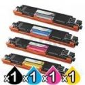 4 Pack HP CE310A-CE313A (126A) Compatible Toner Cartridges [1BK,1C,1M,1Y]