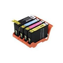 4 Pack Compatible Lexmark 150XL Ink Cartridge Set High Yield (1BK,1C,1M,1Y) 14N1615AAN 14N1616AAN 14N1618AAN 14N1614AAN