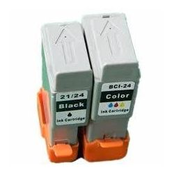 2 Pack Canon BCI-21BK BCI-21C Ink Station Compatible Value Pack [1BK,1C]