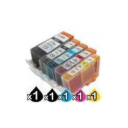 5-Pack Canon PGI-525, CLI-526 Compatible Inkjet (with Chip)