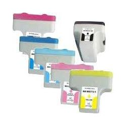 6 Pack HP 02 Compatible Inkjet Cartridges C8721WA-C8775WA [1BK,1C,1M,1Y,1LC,1LM]