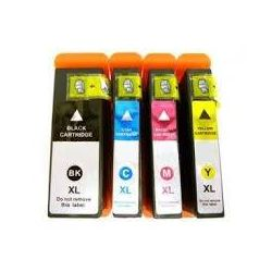 4 Pack Dell V525W (Series 33/34) Extra High Yield Compatible Ink Combo [1BK,1C,1M,1Y]