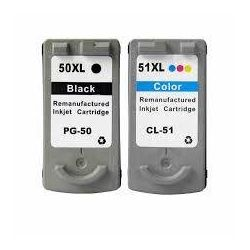 2 Pack Canon PG-50 CL-51 Compatible Value Pack [1BK,1C]