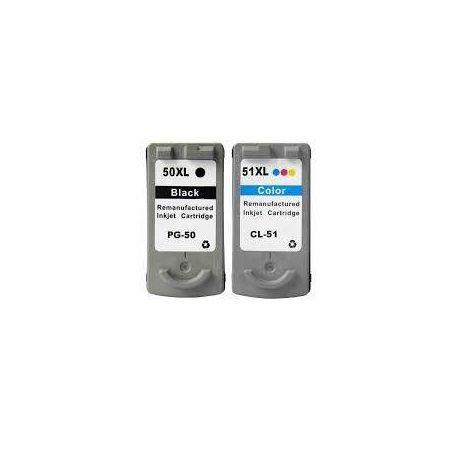 2 Pack Canon PG-50 CL-51 Compatible Value Pack [1BK,1C]