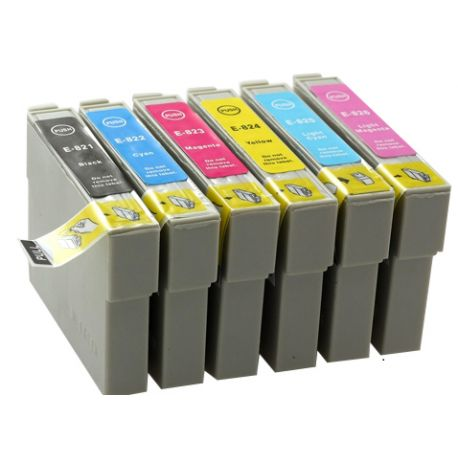 6 Pack Compatible Epson 82N - T0821-T0826 Ink Cartridge