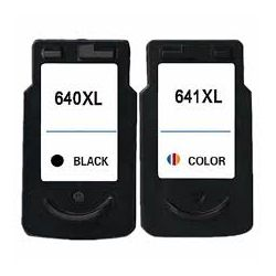 2-Pack Canon PG-640XL, CL-641XL Compatible High Yield Ink Cartridge [1Black + 1Colour]
