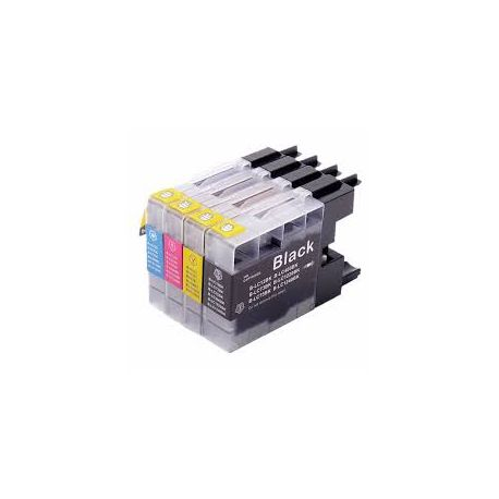 4 Pack Compatible Brother LC40 /LC73/ LC77 Ink Cartridge Set (1BK,1C,1M.1Y)